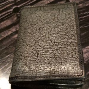 Authentic Coach wallet.